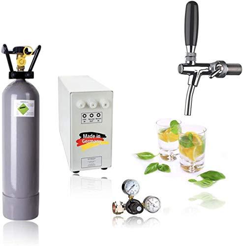 SPRUDELUX® Untertisch-Trinkwassersystem - Trinkwassersprudler Sprudel-Lok - NEUHEIT! Inkl. Zapfhahn mit...