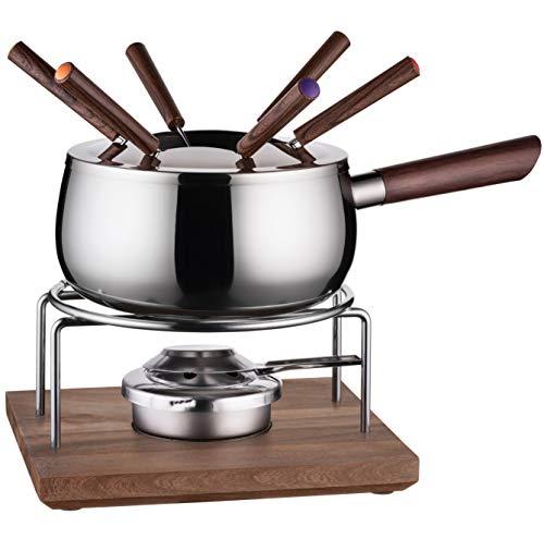 MÄSER 931895, Fondue Set für 6 Personen in modern-rustikalem Design, ideal für Fleischfondue, 10-teiliges...