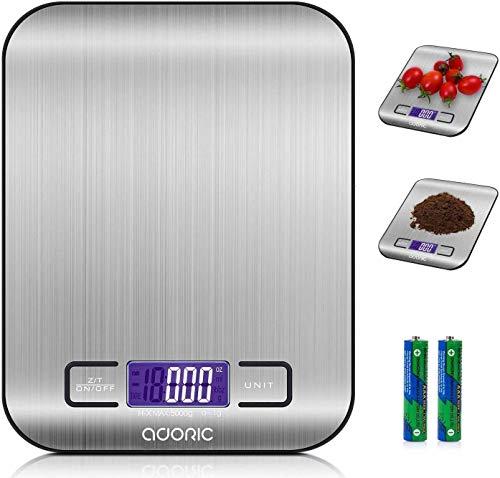 ADORIC Digitalwaage Professionelle Electronische Waage, Küchenwaage mit LCD Display-wunderbare Präzision auf...