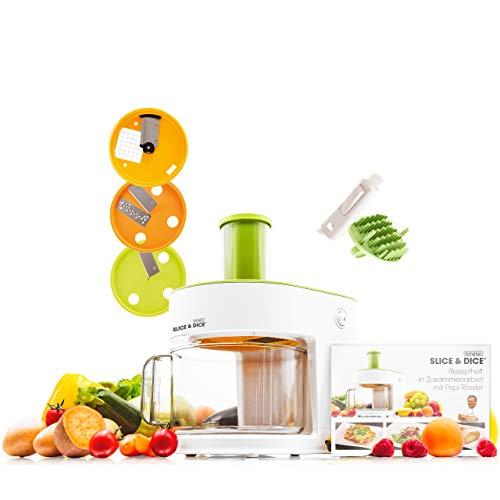 Mediashop Livington Slice & Dice – elektrischer Allesschneider – Gemüseschneider schneidet Spiralen,...