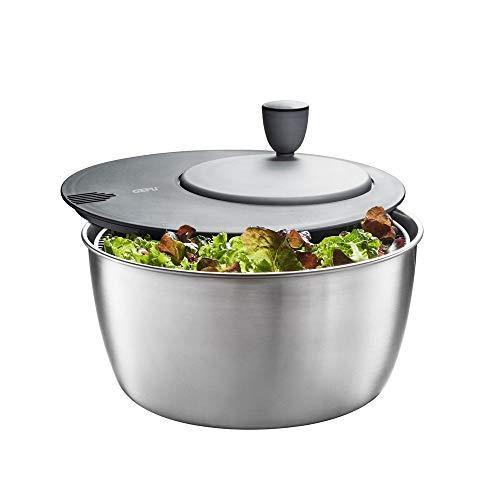 Gefu Salatschleuder Rotare, 3-tlg., Salattrockner, Salatschüssel, Salat Schüssel, Edelstahl, Kunststoff, Ø...