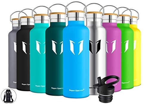 Super Sparrow Trinkflasche Edelstahl Wasserflasche - 620ml - Isolier Flasche mit Perfekte Thermosflasche für...