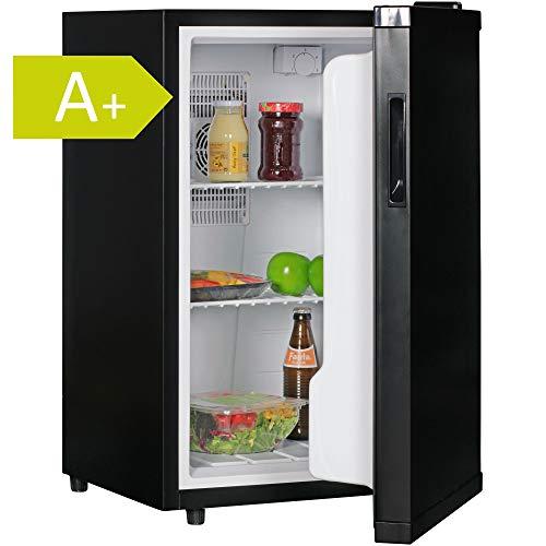 AMSTYLE Mini Kühlschrank 65 Liter Kleiner Kühlschrank Schwarz 46x74x52cm 5°-15°C | Getränkekühlschrank...