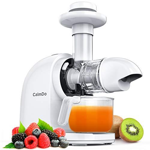 CalmDo Slow Juicer, Entsafter Gemüse und Obst, Sorbet, Profi Entsafter Kaltpresse BPA-frei mit...
