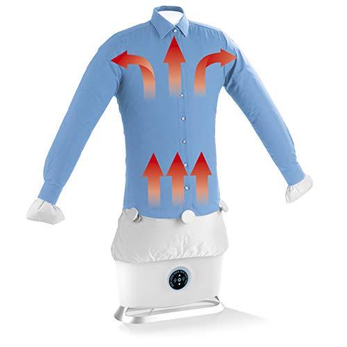 CLEANmaxx Automatischer Hemdenbügler mit Dampffunktion | Trocknet und glättet Hemden & Blusen und ersetzt...