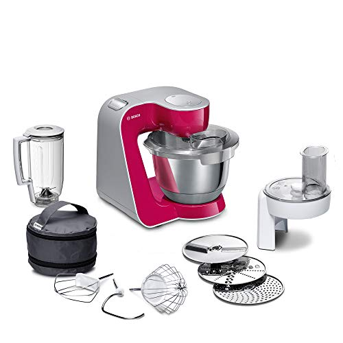 Bosch MUM5 CreationLine Küchenmaschine MUM58420, vielseitig einsetzbar, große Edelstahl-Schüssel (3,9l),...