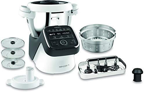 Krups Prep & Cook XL Küchenmaschine mit Kochfunktion HP50A8   inkl. Schnitzelwerk   1550 W   3 L...