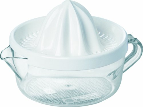Emsa 2227141200 Zitruspresse, 0,4 Liter, Kunststoff, Transparent/Weiß, Superline