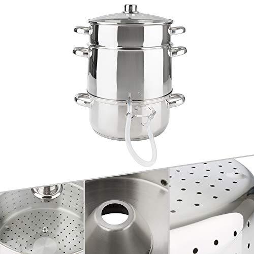 Arebos Dampfentsafter | 15 L | Edelstahl | für alle Herdarten geeignet | Ø 26cm | spülmaschinengeeignet |...