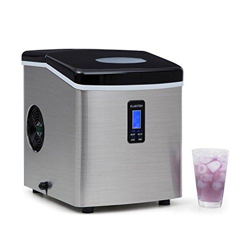Klarstein Mr. Silver-Frost - Eismaschine, Eiswürfelmaschine, Eiswürfelbereiter, 15 kg/Tag, 150 Watt, 3...