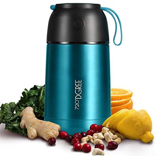 """720°DGREE Thermobehälter """"wunderJar"""" für Essen, Babynahrung - 450ml, 650ml - Auslaufsicher, BPA-Frei -..."""
