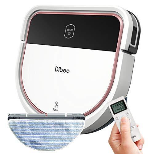 Dibea Saugroboter mit Wischfunktion Staubsauger Roboter Saugen Wischen Gleichzeitig 3 Saugstufen 110 Minuten...