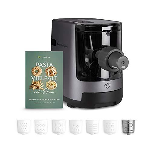 Elektrische Nudelmaschine Nina, vollautomatisch, Pastamaker mit Wiegefunktion inkl. 7 Nudeleinsätzen und...
