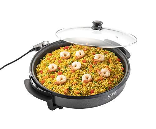 CASO Profi Partypfanne – elektrische Multipfanne für Pizza, Burger, Gemüse u.v.m., bis ca. 240°C,...