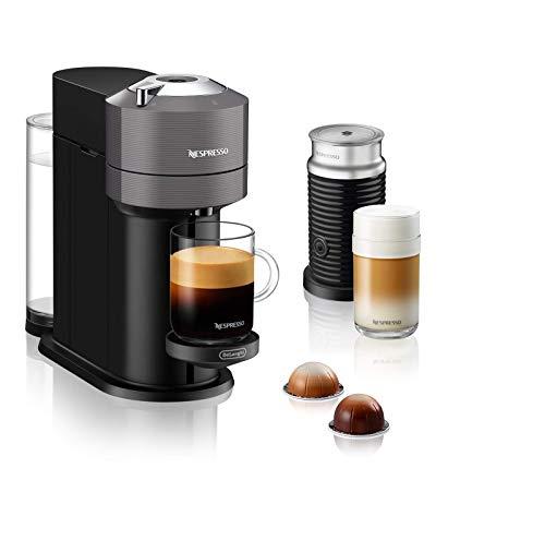 De'Longhi Nespresso Vertuo Next ENV 120.GYAE Kaffeekapselmaschine mit Aeroccino Milchaufschäumer, grau