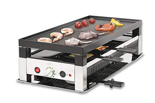 Solis 5 in 1 Table Grill 791 Raclette Grill - Elektrogrill - Raclette, Tischgrill, Wok, Crêpes und Pizza - 8...