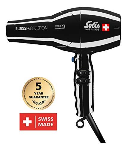 Solis Profi-Haarföhn, 3 Temperatur- und Gebläsestufen, Kaltluft-Taste, AC-Motor, 2300 Watt,...