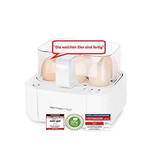 Emerio EB-115560, NEUHEIT, kocht alle drei Garstufen [weich|mittel|hart] in nur einem Kochvorgang mit...