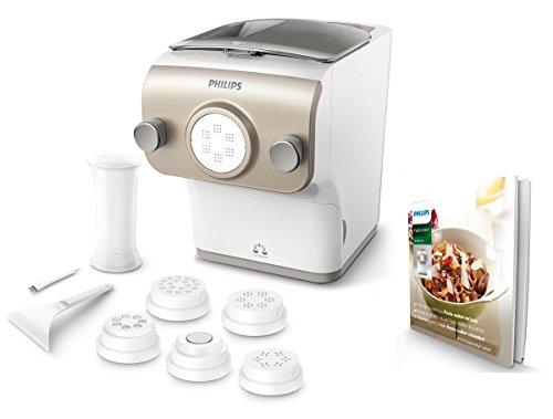 Philips Pastamaker HR2381/05 (vollautomatische Nudelmaschine, mit Wiegefunktion und 6 Formscheiben, 200W,...