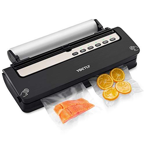 Vakuumierer Automatisch, 5 in 1 Vakuumiergerät mit Cutter für Trockene und Feuchte Lebensmittel Bleiben Sie...