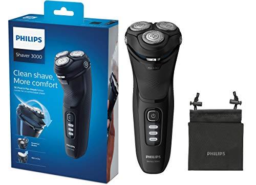 Philips Series 3000 Elektrischer Trocken- & Nassrasierer S3233/52, mit PowerCut-Klingen und ausklappbarem...