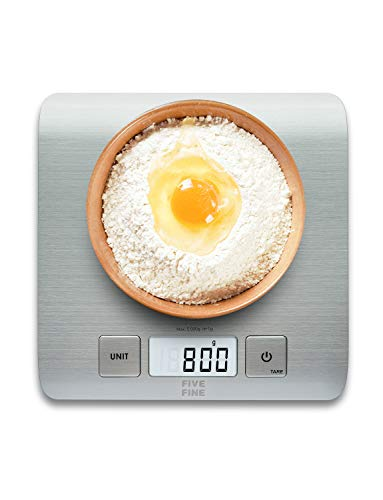Küchenwaage Digitalwaage bis 5kg Professionelle Electronische Waage 1g Küchenwaage Digital, Haushaltswaage...