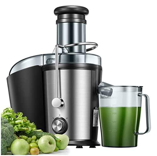 Entsafter Gemüse und Obst, 75MM Große Einfüllöffnung Edelstahl 800W Zentrifugaler Entsafter, Einfach zu...