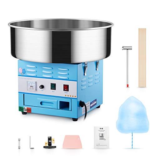 Befano Zuckerwattemaschinen Elektrisch 1030W, Ø46,5CM Abnehmbarer Edelstahlbehälter 10 Sekunden 1 Ausbeute...