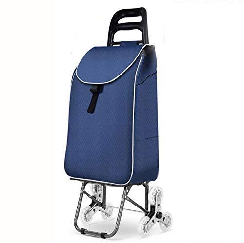 WYZXR Protable Faltbare Einkaufstasche mit Radwagen Einkaufswagen wasserdichte Mobilität Großer Leichter und...