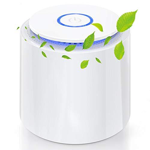 Laluztop Mini Luftreiniger 3 in 1 Desktop-Luftfilter Air Purifier mit 2 Geschwindigkeiten led Nachtlicht ideal...