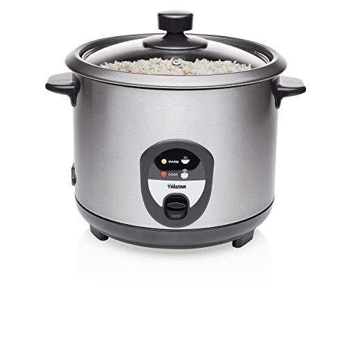 Tristar Reiskocher, 1,5L, Reis für bis zu 10 Personen ohne Anbrennen, Mit Warmhaltefunktion, 500W, Schwarz,...
