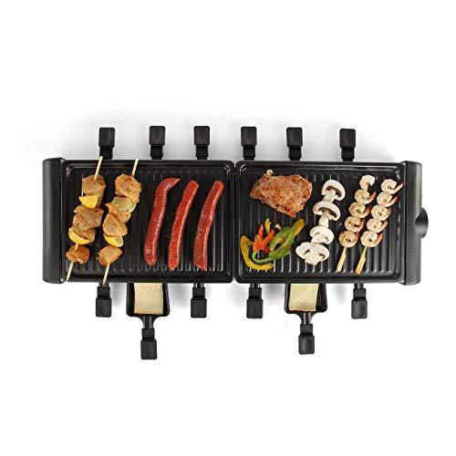 LIVOO DOC185 Raclette-Gerät für 12 Personen, 1800 W, Schwarz