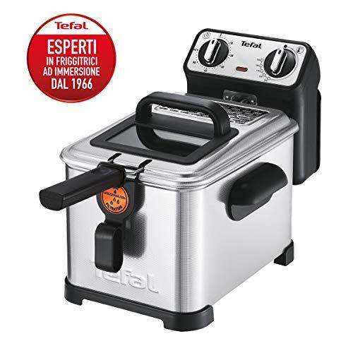 Tefal FR5101 Filtra Pro Inox & Design 3,0L Premium Fritteuse (2300 Watt, Semiprofessionelle Fritteuse mit Öl,...