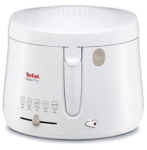 Tefal FF1000 Maxi Fry Fritteuse (1.900 Watt, Kapazität 1,2 kg, Fritteuse mit Öl, wärmeisoliert, regelbare...