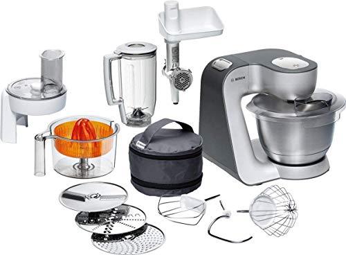 Bosch MUM5 Styline Küchenmaschine MUM56340, vielseitig einsetzbar, große Edelstahl-Schüssel (3,9l),...
