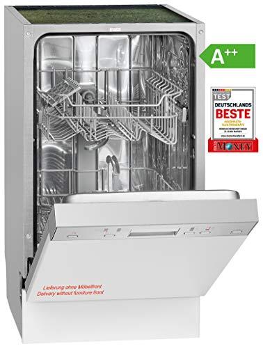 Bomann GSPE 889 Einbau-Geschirrspüler / teilintegriert / 45 cm / EEK A++ / 9 MGD/ 6 Programme / 197 kWh/Jahr...