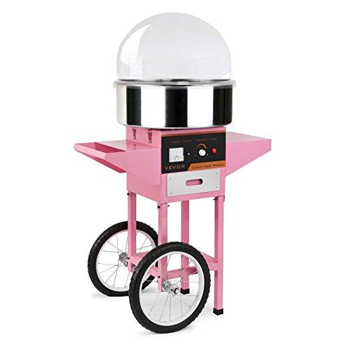BuoQua Zuckerwattemaschine Zucker Rosa Profi Edelstahl Zuckerwatte Maschine für Zuhause 1000W Elektrische...