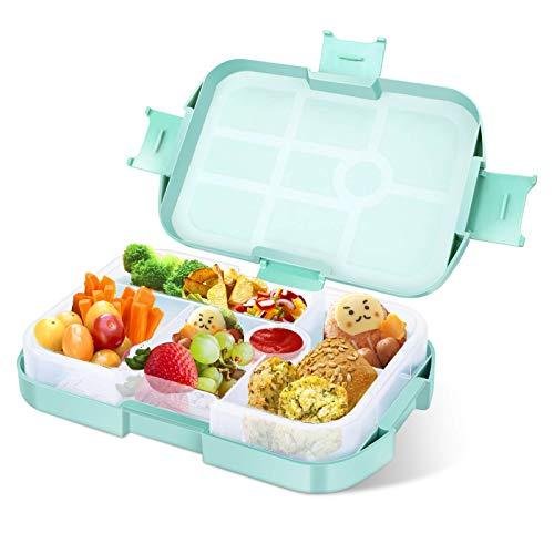 Lunchbox Kinder Bento Box, Brotdose mit Fächern, Robust und Auslaufsicher Brotzeitbox für Kinder Erwachsene,...