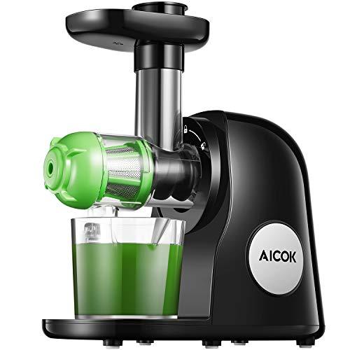 Slow Juicer, Aicok BPA-frei Entsafter Gemüse und Obst mit 2 Filter, Leistungsstarker Ruhiger Motor &...