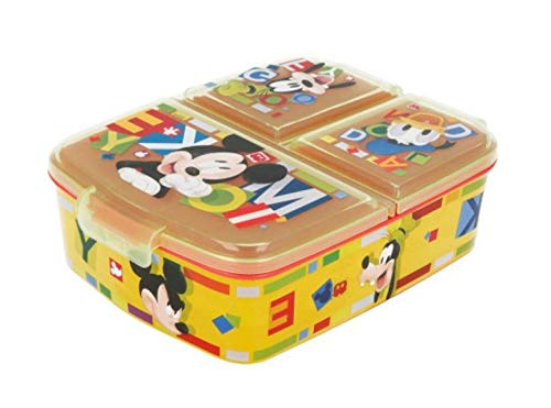 Theonoi Kinder Brotdose / Lunchbox / Sandwichbox wählbar: Frozen PJ Masks Spiderman Avengers - Mickey – Paw...