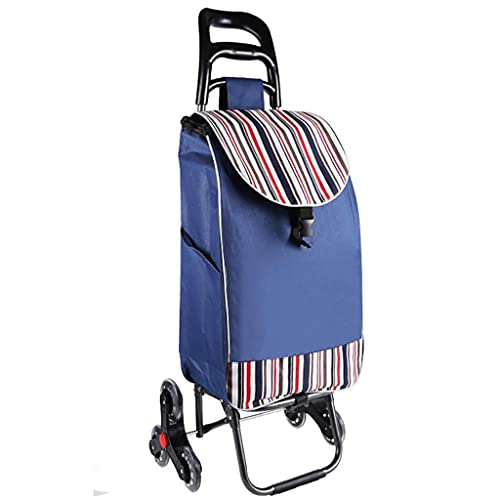WYZXR Faltbarer Einkaufswagen auf 2 Rädern, wasserdichte Canvas-Tasche, Faltbarer Einkaufswagen für...