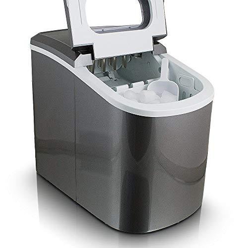 Eiswürfelmaschine Eiswürfelbereiter Eiswürfel Ice Maker EIS Maschine Icemaker (Dunkelgrau)