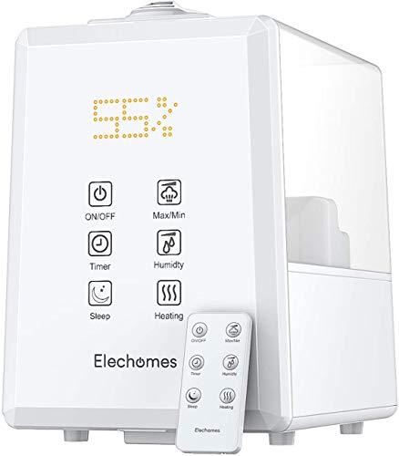 Elechomes Ultraschall Luftbefeuchter 6L, Warmer und Kühler Nebel mit Fernbedienung, Angepasste...