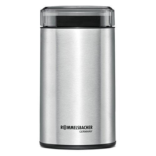ROMMELSBACHER Kaffeemühle EKM 100 - Schlagmesser aus Edelstahl, Edelstahl Bohnenbehälter, Füllmenge 70 g,...
