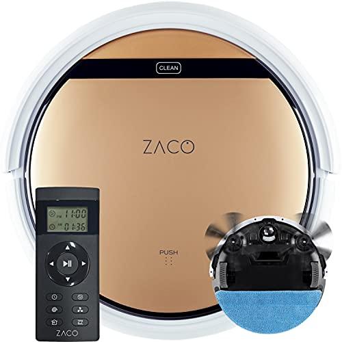 ZACO V5sPro Saugroboter mit Wischfunktion, automatischer Staubsauger Roboter, 2in1 nass Wischen bis zu 180qm...