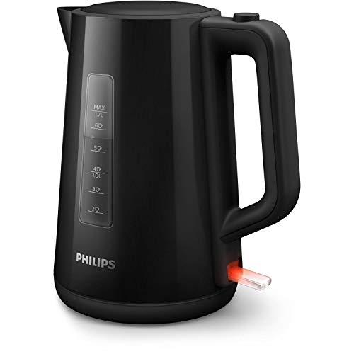 Philips HD9318/20 Wasserkocher Series 3000, Klappdeckel, Leuchtanzeige, schwarz