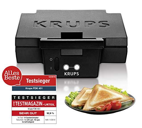 Krups Sandwichmaker FDK451 | für gegrillte Sandwichtoasts in Dreiecksform | Antihaftbeschichtete Platten...