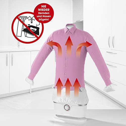 CLEANmaxx Automatischer Hemdenbügler | Trocknet und glättet Hemden & Blusen und ersetzt Bügeleisen oder...