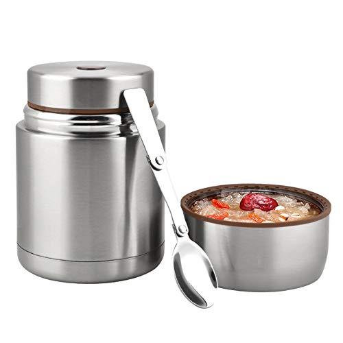 Eluck Thermobehälter für Essen Große Kapazität 800ml Edelstahl Thermo Speisebehälter Isolierbehälter...