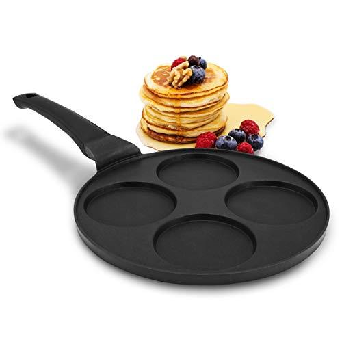 endusor Pancake Pfanne Spiegeleipfanne - Ø26cm mit [PowerShield]-Beschichtung | Induktion Ceran Gas Elektro |...